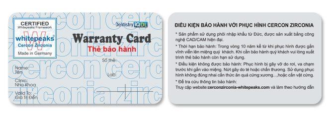 thẻ bảo hành