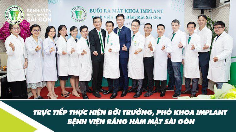 Bác sĩ chuyên môn trực tiếp thực hiện